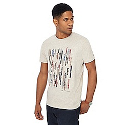 RJR.John Rocha - Big and tall grey bar print t-shirt