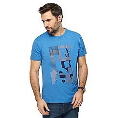 RJR.John Rocha - Blue abstract graphic print t-shirt