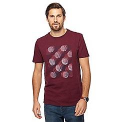 RJR.John Rocha - Wine red circle sketch print t-shirt