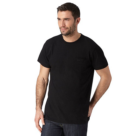 RJR.John Rocha - Big and tall designer black 'Bobby' crew neck t-shirt