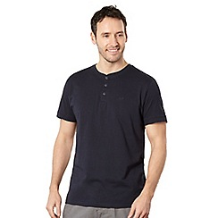 RJR.John Rocha - Big and tall designer navy 'Bobby' button neck t-shirt
