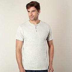 RJR.John Rocha - Big and tall designer cream button neck t-shirt