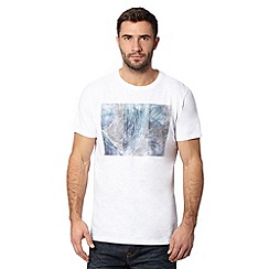 RJR.John Rocha - Big and tall designer white sketched logo t-shirt