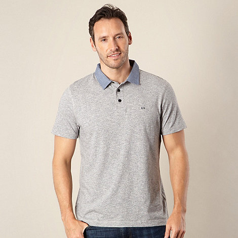 RJR.John Rocha - Designer grey +Frank+ faded stripe polo shirt