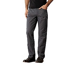 RJR.John Rocha - Big and tall designer dark grey 'Craig' cotton trousers