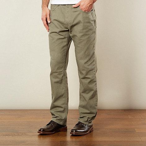 RJR.John Rocha - Designer olive linen blend trousers