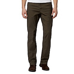RJR.John Rocha - Big and tall designer olive textured trousers