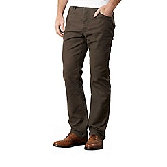 RJR.John Rocha - Big and tall designer brown five pocket trousers