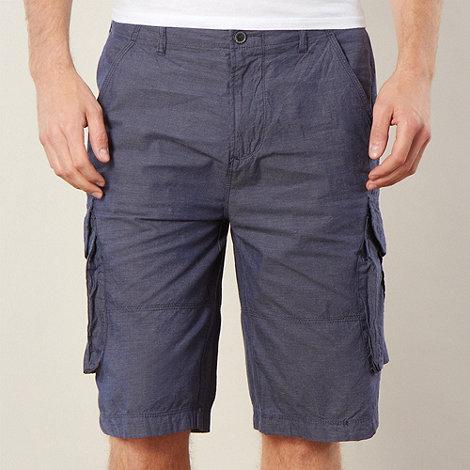 RJR.John Rocha - Designer navy blue woven cargo shorts