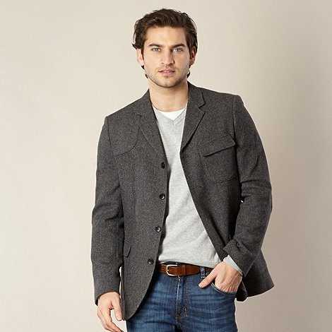 RJR.John Rocha - Big and tall designer grey textured blazer