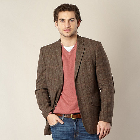 RJR.John Rocha - Designer brown Herringbone blazer