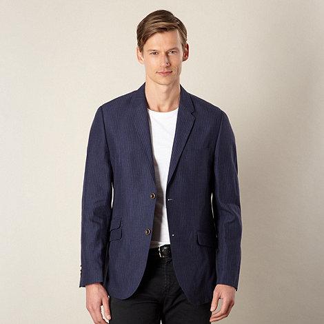 RJR.John Rocha - Big and tall designer navy striped linen blazer