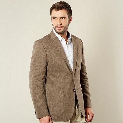 RJR.John Rocha - Designer brown linen herringbone blazer