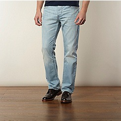 RJR.John Rocha - Designer light blue vintage wash relaxed fit jeans