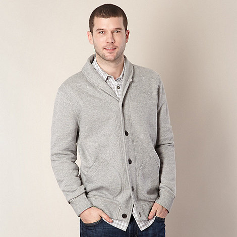 RJR.John Rocha - Designer light grey shawl neck cardigan