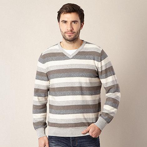 RJR.John Rocha - Designer grey striped jumper