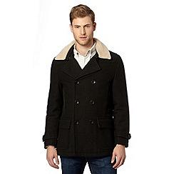 RJR.John Rocha - Big and tall designer dark green wool blend borg collar jacket