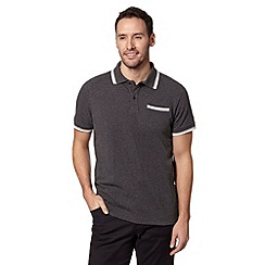 RJR.John Rocha - Designer dark grey tipped pique polo shirt