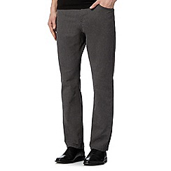 RJR.John Rocha - Big and tall designer dark grey textured trousers