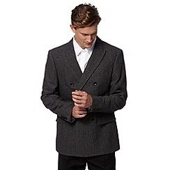 RJR.John Rocha - Designer dark grey herringbone coat