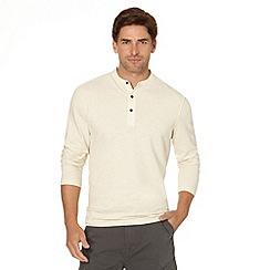 RJR.John Rocha - Designer off white henley button neck t-shirt