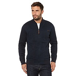 RJR.John Rocha - Big and tall designer navy knitted baseball jacket