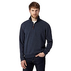 RJR.John Rocha - Big and tall designer navy french ribbed sweatshirt