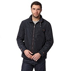 RJR.John Rocha - Designer navy quilt panel harrington jacket