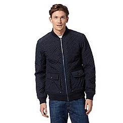 RJR.John Rocha - Designer navy quilted bomber jacket