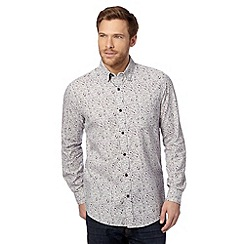 RJR.John Rocha - Designer grey ditsy floral shirt