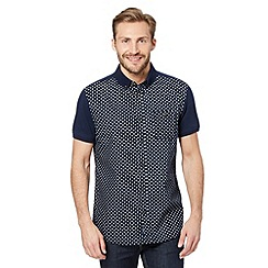 RJR.John Rocha - Designer navy star jersey panel shirt