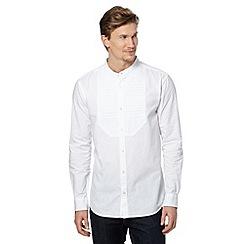 RJR.John Rocha - Designer white bib front grandad shirt