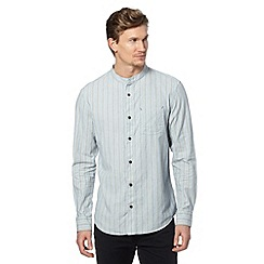 RJR.John Rocha - Designer blue striped grandad shirt