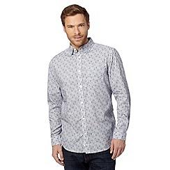 RJR.John Rocha - Big and tall designer purple tiled shirt
