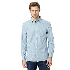 RJR.John Rocha - Big and tall designer blue textured gingham shirt