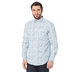 RJR.John Rocha - Big and tall designer aqua painted floral print shirt