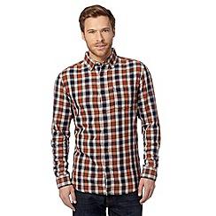 RJR.John Rocha - Designer orange double faced checked shirt