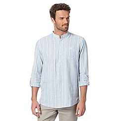 RJR.John Rocha - Designer light blue linen blend striped shirt