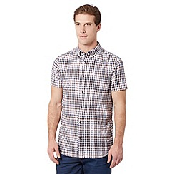 RJR.John Rocha - Big and tall designer brown textured check shirt