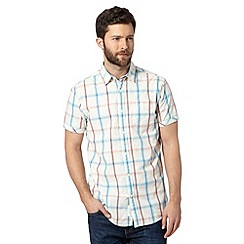 RJR.John Rocha - Designer aqua textured checked short sleeved shirt
