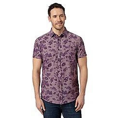RJR.John Rocha - Big and tall designer purple big rose print shirt