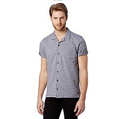 RJR.John Rocha - Designer navy jacquard dash jersey shirt