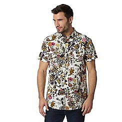 RJR.John Rocha - Designer off white short sleeved floral print shirt