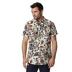 RJR.John Rocha - Designer off white short sleeved floral print shirt