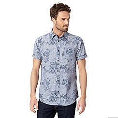 RJR.John Rocha - Big and tall designer blue short sleeved shirt