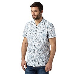 RJR.John Rocha - Big and tall designer grey tropical print pocket shirt