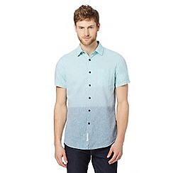 RJR.John Rocha - Designer aqua linen blend shirt