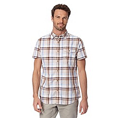 RJR.John Rocha - Big and tall designer brown linen blend checked shirt