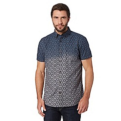 RJR.John Rocha - Designer navy ombre geometric print shirt