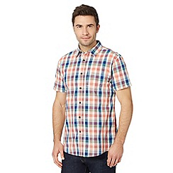RJR.John Rocha - Designer orange coloured check shirt
